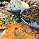 Fresh Salads and home smoked Salmon