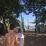 C&C Surfing and Entrance tot he Beach from Kalimba