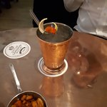City of London Distillery - gin and snacks