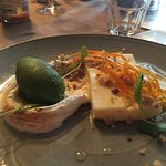 Lemon meringue and basil sorbet - not recommended