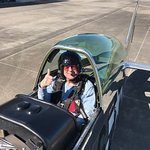 Me in the rear seat of Crazy Horse 2, March 23rd, 2018, before our flight.
