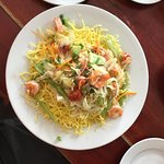 crispy noodles with shrimp