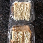 Coconut Cake and Caramel Cake Slices