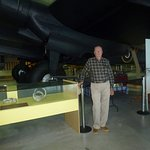 Visitor Under Halifax Wing Illustrates Huge Size of The Bomber