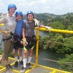 Ziplining across Gatun Lake