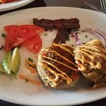 Crab cakes lunch