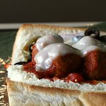 An inside look into our Hot Meatball Sandwich
