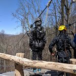 First zip on the Blue Ridge Experience