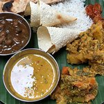 Fantastic vegan home style Indian cooking. Very affordable.