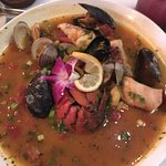 Outstanding Bouillabaisse! The Red Snapper was fabulous too, but that Bouillabaisse was good eno