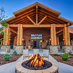 RV Resort Clubhouse and Fire Pit