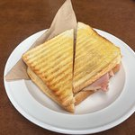 My cold toasted ham, cheese & tomato sandwich.