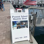 Peanut Island Shuttle Boat Sign