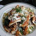 My Greek chicken pasta. Cardboard chicken