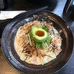 Udon with Shrimp and Avocado - their #1 seller