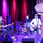 band playing at The Stage, afternoon of 4/4/2018