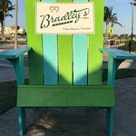 Bradley's Signature Adirondack Chair in Front of Restaurant