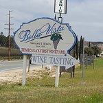Bella Vista Winery Wine Tasting Sign