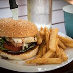 Nice chicken burger and fries