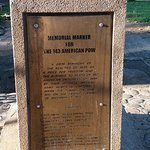 Memorial Marker of the massacred American soldiers during world war II