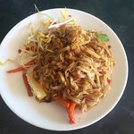 Pad Thai - with prawns. I had to did around to find all three of them.