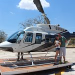 The Bell 206L that is used in flight