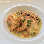 Omar Ebi and scallops (lunch dish)
