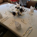 Lunch table setting.
