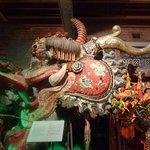 A very long, decorative dragon that was used in processions.