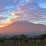 Sun rise from our Serena Lodge in Amboseli