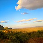 End of day in West Tsavo parc