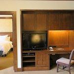 1BR suite - Desk area in living room