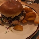The Salt Pig Burger and triple cooked chips