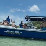 Revelers on Garfield Too at Pinel Island