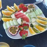 top deck day club - breakfast fruit platter