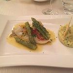 Rombo with asparagus