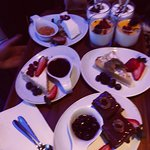 Dessert selection at Modigliani