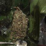 Beef on banana leaf