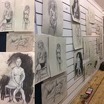 Life drawing every Thursday evening. Enjoy a coffee and get creative