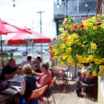Our patio with a view of the Lunenburg Waterfront
