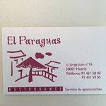 Carte de visite El Paraguas