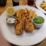 Beer-battered halloumi at the Black Bull
