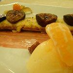 tarte aux figues sorbet mandarine ferme de janou