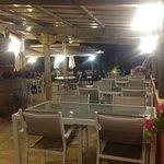 terrasse le soir ferme de Janou