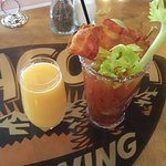 $2 mimosa & bacon bloody!