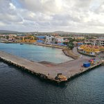 Skyline of Bonaire which features Fort Oranje