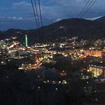Gatlinburg at night from the Ober sky tram.