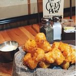 Hand dipped beer batter cheese curds