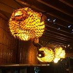 Puffer Fish lights inside La Mariana