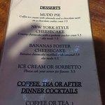 La Mariana desserts menu